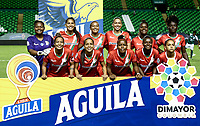 PALMIRA - COLOMBIA, 03-08-2019: Jugadoras del Cortulua posan para una foto previo al e partido entre Deportivo Cali y Cortuluá por la fecha 4 de la Liga Femenina Águila 2019 jugado en el estadio Deportivo Cali de la ciudad de Palmira. / Players of Cortulua pose to a photo prior a match for the date 4 as part Aguila Women League 2019 between Deportivo Cali and Cortulua played at Deportivo Cali stadium in Palmira city. Photo: VizzorImage / Gabriel Aponte / Staff