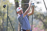 Daniel Brooks of England tees off during the 58th UBS Hong Kong Golf Open as part of the European Tour on 09 December 2016, at the Hong Kong Golf Club, Fanling, Hong Kong, China. Photo by Vivek Prakash / Power Sport Images