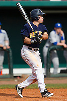 Michigan Wolverines outfielder Patrick Biondi #26 during a game against the Seton Hall Pirates at the Big Ten/Big East Challenge at Al Lang Stadium on February 18, 2012 in St. Petersburg, Florida.  (Mike Janes/Four Seam Images)