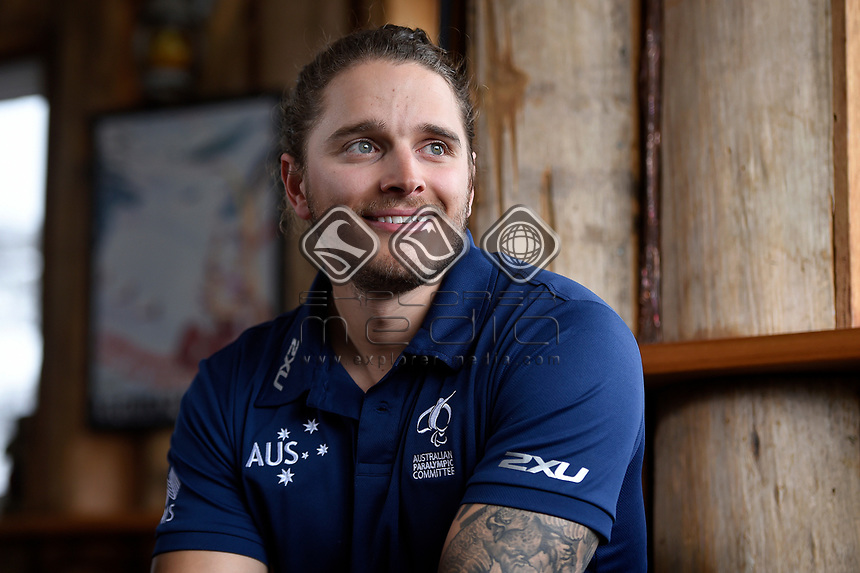 Sam Tait / Athlete <br /> Australian Paralympic Committee<br /> 2017 Winter Alpine training camp for <br /> 2018 Pyeongchang South Korea Paralympics<br /> Jindabyne / Perisher Ski resort <br /> NSW / August 14-18th 2017<br /> &copy; Sport the library / Jeff Crow