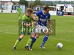 Drogheda United jamie Hollywood Ipswich Town Brett Pitman. Photo:Colin Bell/pressphotos.ie