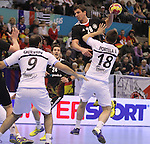 15.01.2013 Granollers, Spain. IHF men's world championship, prelimanary round. Picture show Adrian Pfahl    in action during game between Germany v Argentina at Palau d'esports de Granollers