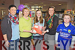 Gráine Fennell from The Glen, Ballinskelligs was the Cahersiveen winner of the Harry Potter Quiz Competition, pictured here at the Cahersiveen Library being presented with the Harry Potter Box Set were l-r; Monique Fennell, Noreen O'Sullivan(Librarian), Gráine Fennell, Michelle O'Sullivan(Librarian) & Cathal Fennell.