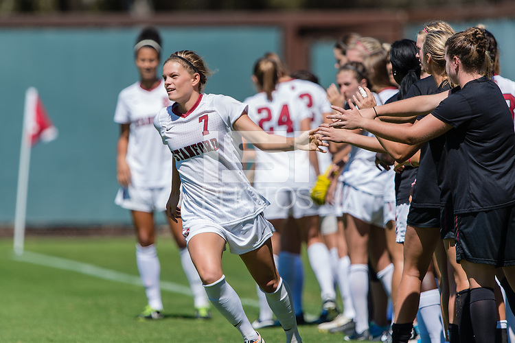 September 8, 2013: Laura Liedle before the Stanford vs Maryland women's soccer match in Stanford, California.  Stanford won 3-0.