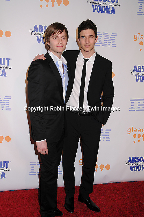 Van Hansis and Jake Silbermann of As The World Turns..posing for photographers at the 19th Annual GLAAD Media Awards on March 17, 2008 at The Marriott Marquis Hotel in New York City. ..Robin Platzer, Twin Images