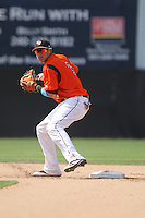 Bowie Baysox shortstop Manny Machado #3 during a game against the New Hampshire Fisher Cats at Prince George's Stadium on June 17, 2012 in Bowie, Maryland. New Hampshire defeated Bowie 4-3 in 13 innings. (Brace Hemmelgarn/Four Seam Images)