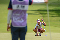 I.K. Kim (KOR) lines up her putt on 10 during round 4 of the 2018 KPMG Women's PGA Championship, Kemper Lakes Golf Club, at Kildeer, Illinois, USA. 7/1/2018.<br /> Picture: Golffile | Ken Murray<br /> <br /> All photo usage must carry mandatory copyright credit (&copy; Golffile | Ken Murray)