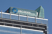 RBC Dexia logo is seen in Toronto financial district April 22, 2010. RBC Dexia Investor Services, established in January 2006, is a joint venture equally owned by Royal Bank of Canada and Dexia.