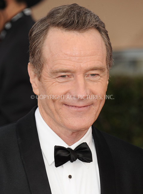 WWW.ACEPIXS.COM<br /> <br /> January 30 2016, LA<br /> <br /> Bryan Cranston arriving at the 22nd Annual Screen Actors Guild Awards at the Shrine Auditorium on January 30, 2016 in Los Angeles, California<br /> <br /> By Line: Peter West/ACE Pictures<br /> <br /> <br /> ACE Pictures, Inc.<br /> tel: 646 769 0430<br /> Email: info@acepixs.com<br /> www.acepixs.com