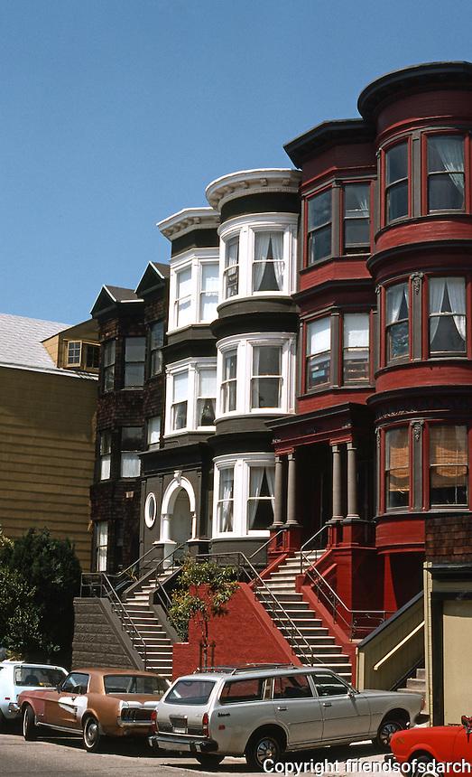 San Francisco: Row Houses, Sacramento Street.  Photo '78.