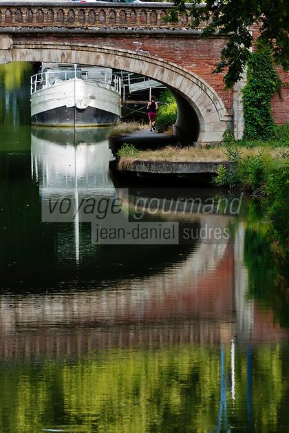 Europe/France/Midi-Pyrénées/31/Haute-Garonne/Toulouse:  Toulouse, centre historique, Canal de  Brienne - Le canal de Brienne est un canal  qui relie la Garonne et le canal du Midi, à Toulouse.