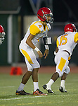 Torrance, CA 09/08/17 - Joshua Robledo (Hawthorne #4) in action during the Hawthorne vs South Torrance CIF-SS non-conference Varsity football game at South Torrance High School.