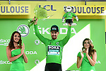 Peter Sagan (SVK) Bora-Hansgrohe retains the points Green Jersey at the end of Stage 11 of the 2019 Tour de France running 167km from Albi to Toulouse, France. 17th July 2019.<br /> Picture: ASO/Alex Broadway | Cyclefile<br /> All photos usage must carry mandatory copyright credit (© Cyclefile | ASO/Alex Broadway)