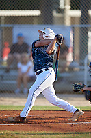 John Anderson (14) during the WWBA World Championship at the Roger Dean Complex on October 13, 2019 in Jupiter, Florida.  John Anderson attends North Gwinnett High School in Suwanee, GA and is committed to Georgia Tech.  (Mike Janes/Four Seam Images)