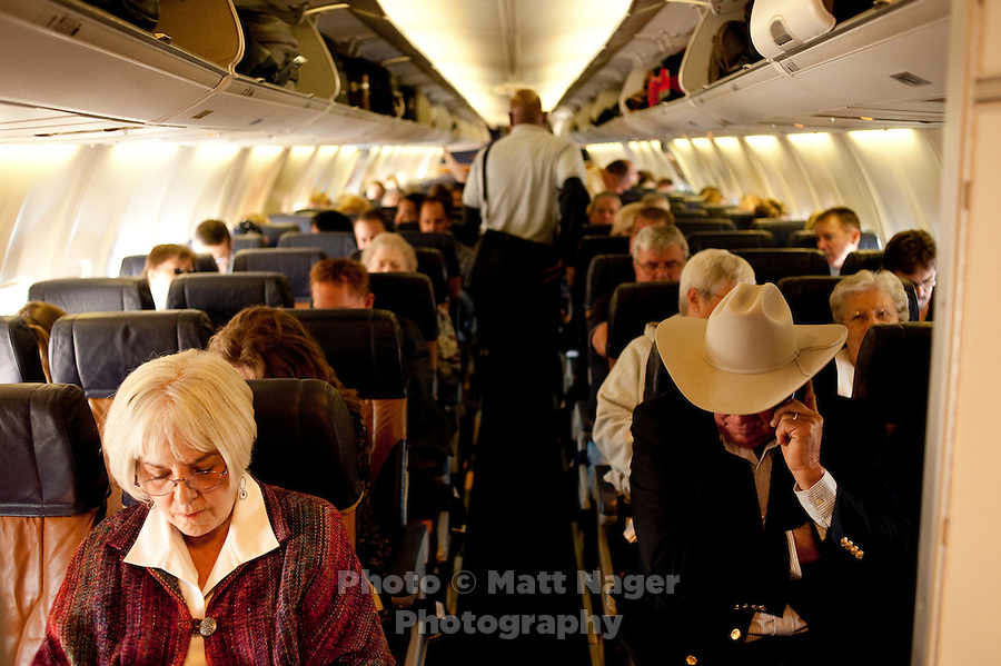 Passengers board a Southwest Airlines plane at Love Field Airport in Dallas, Texas, Wednesday, October 27, 2010...PHOTO/ MATT NAGER