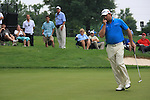 Graeme McDowell (NIR) on the 10th green on day 1 of the World Golf Championship Bridgestone Invitational, from Firestone Country Club, Akron, Ohio. 4/8/11.Picture Fran Caffrey www.golffile.ie