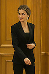 Queen Letizia of Spain during a Royal Audience at Zarzuela Palace in Madrid, Spain. January 29, 2015. (ALTERPHOTOS/Victor Blanco)