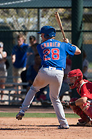 Chicago Cubs outfielder Chris Carrier (28) during a Minor League Spring Training game against the Los Angeles Angels at Sloan Park on March 20, 2018 in Mesa, Arizona. (Zachary Lucy/Four Seam Images)