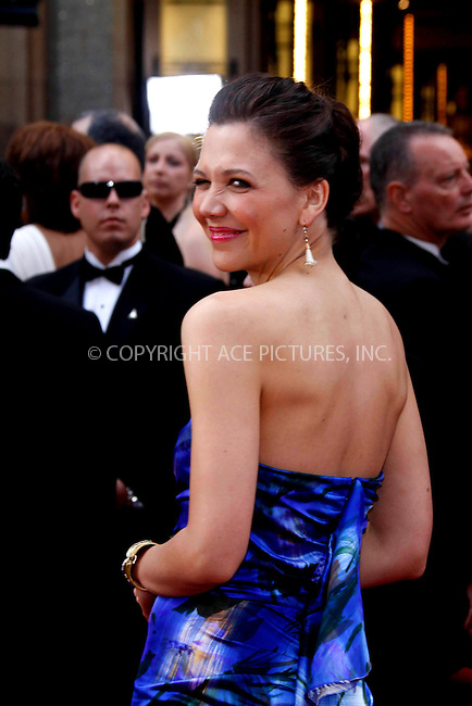 WWW.ACEPIXS.COM . . . . .  ....March 7 2010, Hollywood, CA....Actress Maggie Gyllenhaal at the 82nd Annual Academy Awards held at Kodak Theatre on March 7, 2010 in Hollywood, California.....Please byline: Z10-ACE PICTURES... . . . .  ....Ace Pictures, Inc:  ..Tel: (212) 243-8787..e-mail: info@acepixs.com..web: http://www.acepixs.com