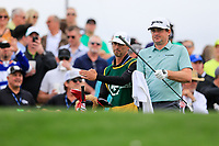Keegan Bradley (USA) on the 11th tee green during the 3rd round of the Waste Management Phoenix Open, TPC Scottsdale, Scottsdale, Arisona, USA. 02/02/2019.<br /> Picture Fran Caffrey / Golffile.ie<br /> <br /> All photo usage must carry mandatory copyright credit (&copy; Golffile | Fran Caffrey)