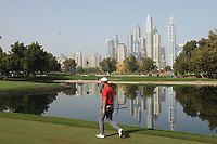 Lucas Bjerregaard (DEN) in action during the third round of the Omega Dubai Desert Classic, Emirates Golf Club, Dubai, UAE. 26/01/2019<br /> Picture: Golffile | Phil Inglis<br /> <br /> <br /> All photo usage must carry mandatory copyright credit (© Golffile | Phil Inglis)