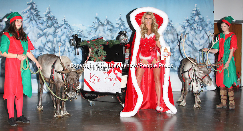 London - Katie Price launches her latest novel 'Santa Baby' at Worx Studio, London - November 2nd 2011..Photo by Keith Mayhew