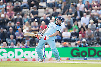 Jonny Bairstow (England) sways out of the way of a short delivery from Andre Russell (West Indies) during England vs West Indies, ICC World Cup Cricket at the Hampshire Bowl on 14th June 2019