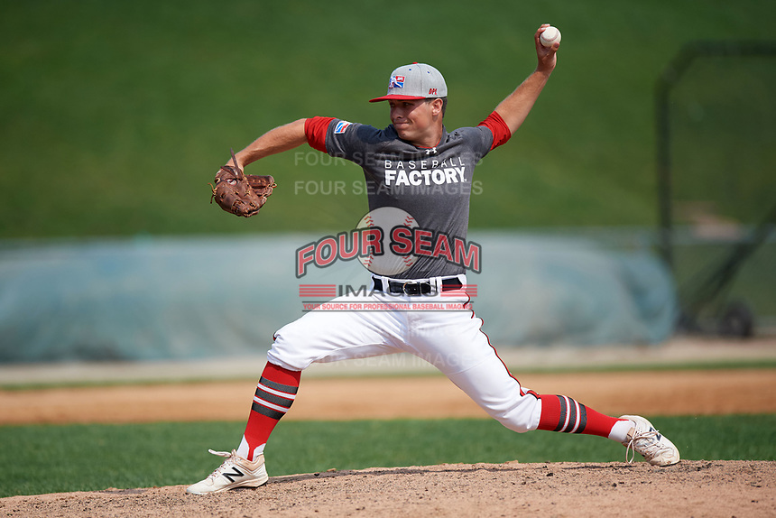 Pitcher Erik Hedmark (10) during the Dominican Prospect League Elite Underclass International Series, powered by Baseball Factory, on August 2, 2017 at Silver Cross Field in Joliet, Illinois.  (Mike Janes/Four Seam Images)