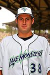 24 June 2008: Vermont Lake Monsters pitcher Steven Stewart. Baseball Card Image for 2008. For in-house use by the Vermont Lake Monsters Only. Editorial or other use of images by other publications or media outlets must secure licensing from the photographer Ed Wolfstein prior to publication, and is based on standards of circulation, and placement in a given publication...Mandatory Credit: Ed Wolfstein.