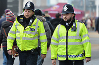 Police presents at the London stadium during West Ham United vs Arsenal, Premier League Football at The London Stadium on 12th January 2019