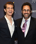 Andrew Garfield and Tony Kushner during the arrivals for the 2018 Drama Desk Awards at Town Hall on June 3, 2018 in New York City.