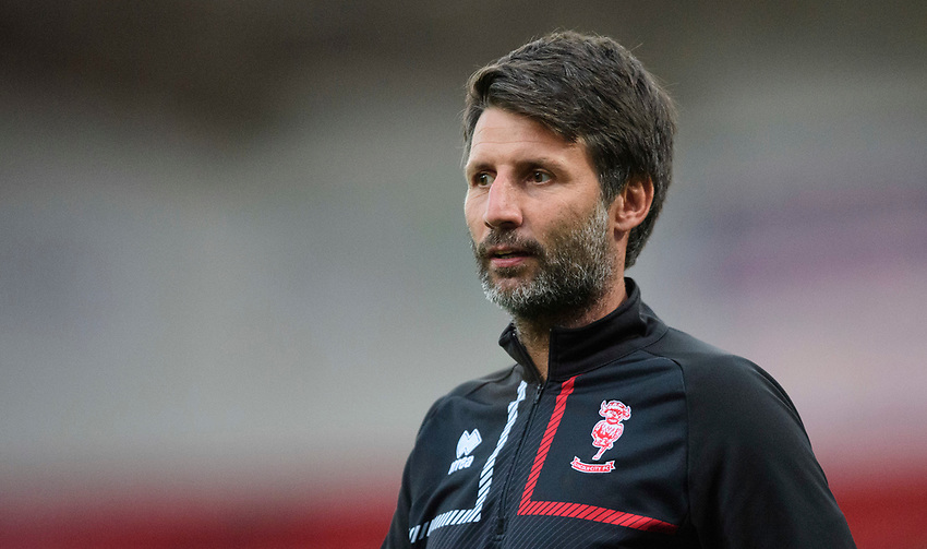 Lincoln City manager Danny Cowley during the pre-match warm-up<br /> <br /> Photographer Chris Vaughan/CameraSport<br /> <br /> EFL Leasing.com Trophy - Northern Section - Group H - Doncaster Rovers v Lincoln City - Tuesday 3rd September 2019 - Keepmoat Stadium - Doncaster<br />  <br /> World Copyright © 2018 CameraSport. All rights reserved. 43 Linden Ave. Countesthorpe. Leicester. England. LE8 5PG - Tel: +44 (0) 116 277 4147 - admin@camerasport.com - www.camerasport.com