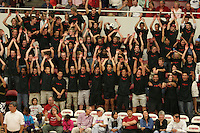 24 Sep 2005: The Block Party student section during Stanford's 3-0 win over UCLA at Maples Pavilion in Stanford, CA.
