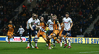 Hull City's Jordy de Wijs denies Preston North End's Tom Clarke a goalscoring chance<br /> <br /> Photographer Stephen White/CameraSport<br /> <br /> The EFL Sky Bet Championship - Preston North End v Hull City - Wednesday 26th December 2018 - Deepdale Stadium - Preston<br /> <br /> World Copyright &copy; 2018 CameraSport. All rights reserved. 43 Linden Ave. Countesthorpe. Leicester. England. LE8 5PG - Tel: +44 (0) 116 277 4147 - admin@camerasport.com - www.camerasport.com