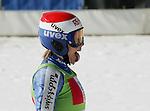 Ski Alpin; Saison 2004/2005 Riesenslalom Soelden Damen Sonja Nef (SUI) streck die Zunge heraus.