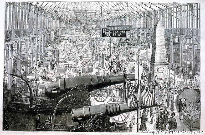 Utopia:  Centennial Exposition--Krupp Cannons.  Photo '74.