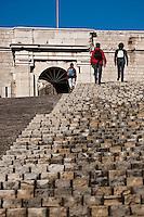 Europe/France/Provence-Alpes-Côte d'Azur/13/Bouches-du-Rhône/Marseille: Fort Saint-Nicolas, Escalier du Fort d'Encasteaux
