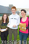Smiles all round Rachel Quirke, Michael O'Sullivan and Lucy O'Shea having received their leaving cert results yesterday in Colaiste na Skellig, Cahersiveen.