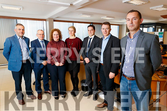 Kerry SciTech pictured at Aspen Grove on Wednesday morning last were l-r: Sean Ryan (CEO Aspen Grove), Mike Scanlon (Kerry County Council), Brid McElligott (IT Tralee), Aoife O'Carroll (Aspen Grove) Shane Walsh (JRI-A), John Daly (Dairymaster) and John Gannon (Aspen Grove and Chairman of Kerry SciTech).