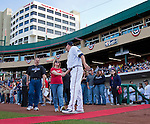 A photo from the Reno Aces 2013 home opener against the Sacramento River Cats on Friday night, April 12, 2013 in Reno, Nevada.