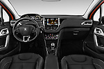 Stock photo of straight dashboard view of 2015 Peugeot 208 Allure 5 Door Hatchback Dashboard