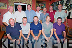 GOLF: prize given night at The Tochár Bán, Kilmoyley for the Kilmoyley Golf Club. Front l-r: Sean McGrath, John Nolan, Brendan Godley (Capt), Paul Darcy and JB Griffin. Back l-r: Fintan Ryan, John Fitzgerald, Tony Flaherty, Michael Harrington, Hubert Fitzell, Eddie and Michael Meehan.