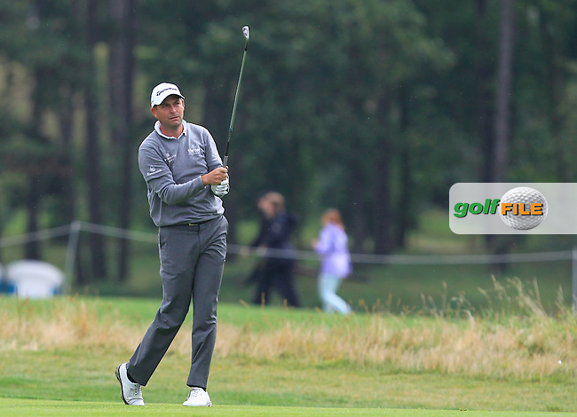 David Howell (ENG) on the 1st fairway during Round 4 of the D+D Real Czech Masters 2016 at the Albatross Golf Club, Prague on Sunday 21st August 2016.<br /> Picture:  Thos Caffrey / www.golffile.ie<br /> <br /> All photos usage must carry mandatory copyright credit   (&copy; Golffile | Thos Caffrey)