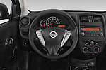 Car pictures of steering wheel view of a 2015 Nissan Versa 1.6 Sv Cvt 4 Door Sedan