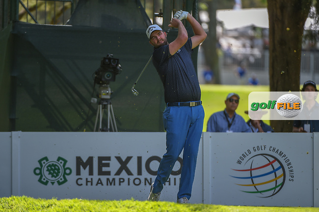 Marc Leishman (AUS) watches his tee shot on 7 during round 1 of the World Golf Championships, Mexico, Club De Golf Chapultepec, Mexico City, Mexico. 2/21/2019.<br /> Picture: Golffile | Ken Murray<br /> <br /> <br /> All photo usage must carry mandatory copyright credit (© Golffile | Ken Murray)