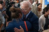 2020 Democratic Presidential candidate, Joe Biden, greets supporters after speaking at a campaign event in Burlington, Iowa on Wednesday, August 7, 2019. Biden is kicking off a 4 day tour of Iowa. <br /> CAP/MPI/RS<br /> ©RS/MPI/Capital Pictures