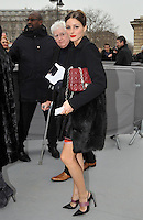 Olivia Palermo attends the Dior fashion show during the Paris Fashion week