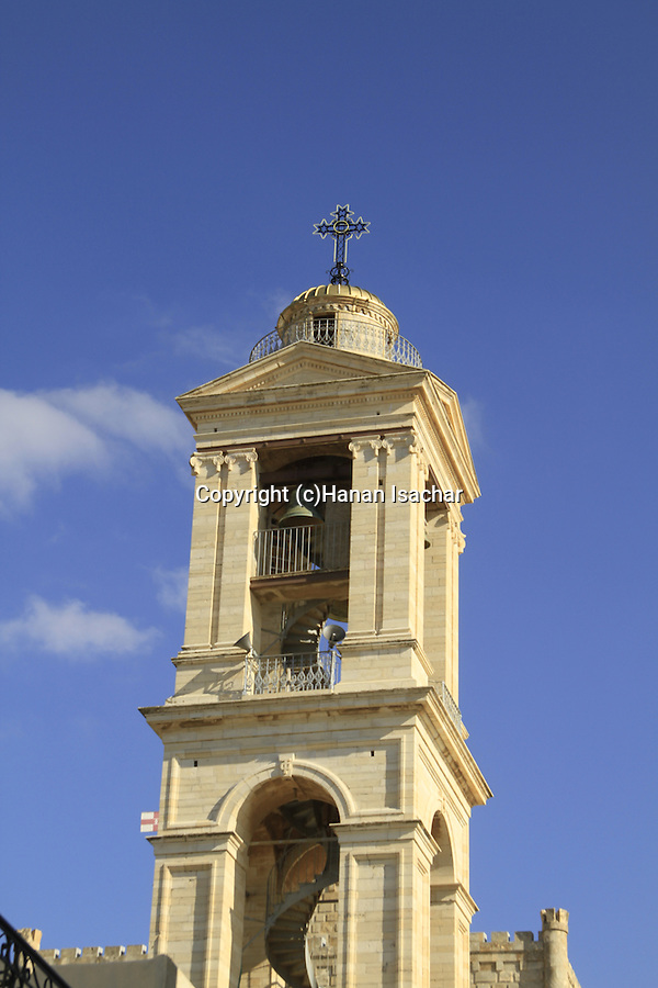 Bethlehem, the bell tower of the Church of the Nativity