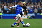1st October 2017, Hillsborough, Sheffield, England; EFL Championship football, Sheffield Wednesday versus Leeds United; Barry Bannan of Sheffield Wednesday under pressure from Ezgjan Alioski of Leeds United FC