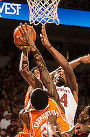 NWA Democrat-Gazette/ANTHONY REYES &bull; @NWATONYR<br /> Michael Qualls, Arkansas junior, shoots against Tennessee Tuesday, Jan. 27, 2015 in Bud Walton Arena in Fayetteville. The Razorbacks won 69-64.